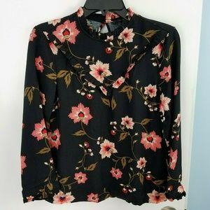 NWOT Vero Moda Nadia 7/8 Floral Long Sleeve Top